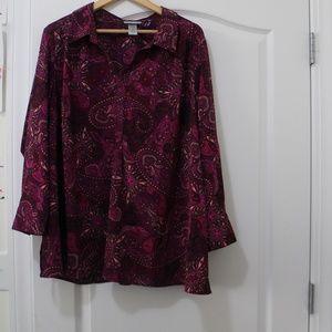 Paisley Print Women's blouse size 22-24w petite